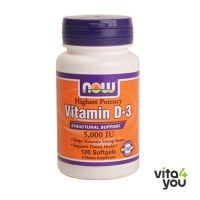 Now Vitamin D3 5000IU 120 softgels