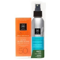Apivita Suncare Anti-Wrinkle Face Cream Olive & 3D Pro-Algae SPF 50 50 ml & Δώρο Greek Mountain Tea Face Water 100 ml