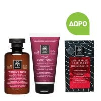 Apivita Women's Tonic Shampoo 250 ml & Tonic Conditioner 150 ml & Δώρο Tonic Hair Mask 20 ml