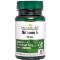 Nature's Aid Vitamin E 200 IU 60 softgels