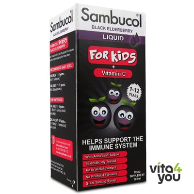 Higher Nature Sambucol For Kids, Vitamin C 120 ml