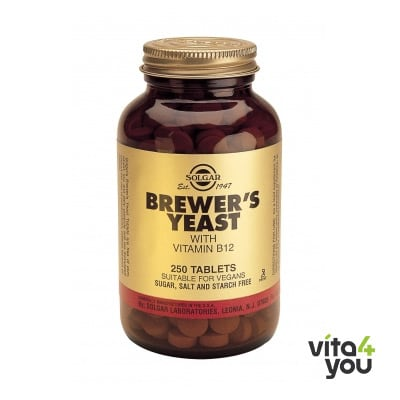 Solgar Brewer's Yeast  500 mg with vitamin B12 250 tabs