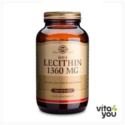 Solgar Lecithin 1360 mg 100 softgels