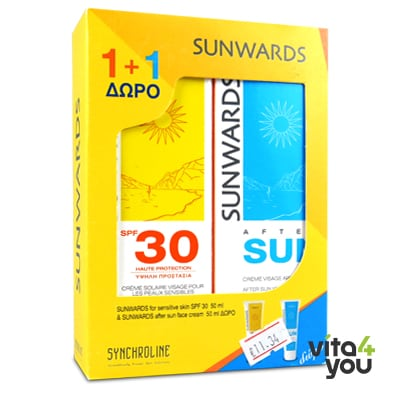 Sunwards Sensitive skin face cream SPF30 50 ml & After sun face cream 50 ml