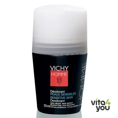 Vichy Homme Deo Roll On 24h sensitive 50 ml