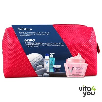 Vichy Idealia cream normal-mixed skin 50 ml & Purete Gel Nettoyant 15 ml & Aqualia Night Spa 15 ml & Eau Thermale 50 ml
