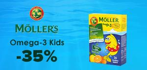 Moller's Omega-3 Kids 36 gummies orange - lemon