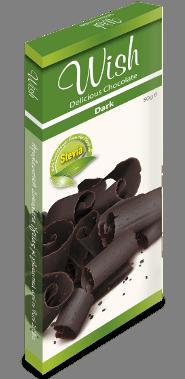 Wish Σοκολάτα υγείας με στέβια 50 gr
