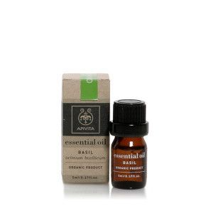 Apivita Essential oil Βιολογικό αιθέριο έλαιο Βασιλικός 5 ml