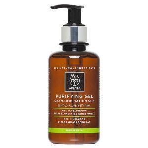 Apivita Purifying Gel oily-combination skin propolis & lime 200 ml