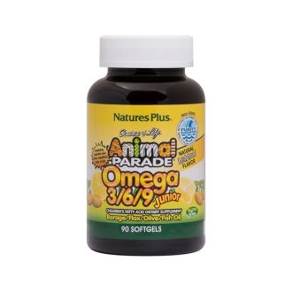 Nature's Plus Animal Parade Omega 3/6/9 Junior 90 lemon flavor softgels