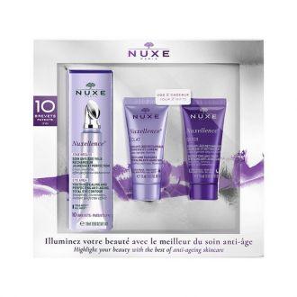 Nuxe Nuxellence Soin Anti Age Yeux 15 ml & Eclat 15 ml & Detox Nuit 15 ml