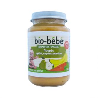 Bio Bebe Πουρές αχλάδι, καρότο, μπανάνα 200 g