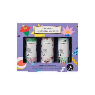 Korres Mini Floral Vacation Travel Size Showergels 3 x 80 ml