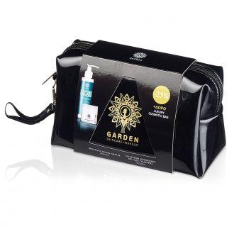 Garden Luxury Cosmetic Bag Hydrating Day Face Cream SPF15 50 ml & Cleansing Milk 150 ml