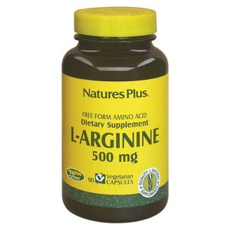 Nature's Plus L-Arginine 500 mg 90 Vcaps