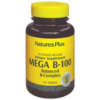 Nature's Plus Mega B-100 Balanced B-Complex 60 tabs