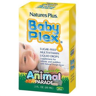 Nature's Plus Animal Parade Baby Plex sugar-free Multivitamin liquid 59 ml orange flavor