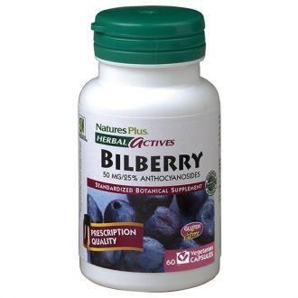 Nature's Plus Bilberry 50 mg 60 veg.caps