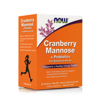 Now Cranberry Mannose & Probiotics 24 packets