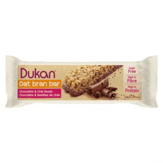 Dukan Chocolate Oat Bran Bars Chia Seeds 37 gr