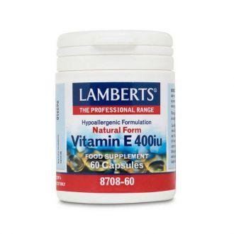Lamberts Vitamin E Natural 400 IU 60 caps