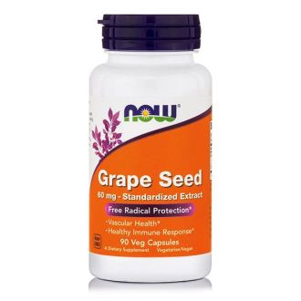 Now Grape Seed Antioxidant 60 mg 90 Vcaps
