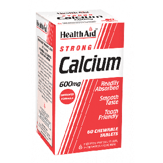 Health Aid Calcium Strong 600 mg 60 chewable tabs