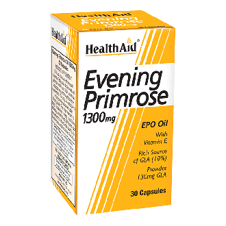 Health Aid Evening Primrose Oil 1300 mg & Vitamin E 30 caps