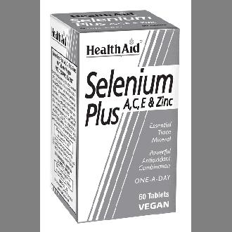 Health Aid Selenium Plus A,C,E & Zinc 60 tabs