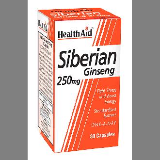 Health Aid Siberian Ginseng 250 mg 30 caps