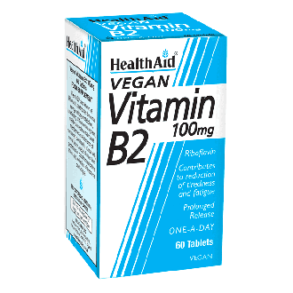 Health Aid Vitamin B2 100 mg vegan 60 tabs