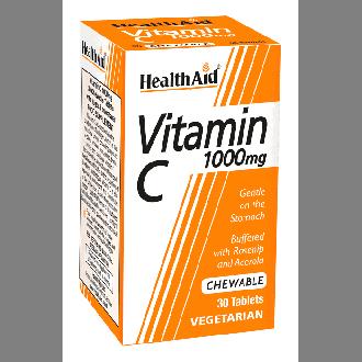 Health Aid Vitamin C 1000 mg 30 chewable tabs