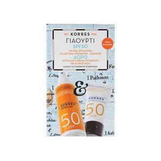 Korres Yoghurt Sunscreen body-face Emulsion SPF50 150 ml & Sunscreen face cream SPF50 50 ml