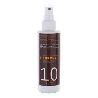 Korres Walhnut & Coconut Tanning oil SPF10 150 ml