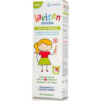 Lavipharm Laviten System Anti Lice Solution 125 ml