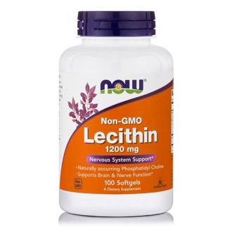 Now Lecithin 1200 mg 100 softgels