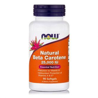 Now Natural Beta Carotene 25000 IU 90 softgels