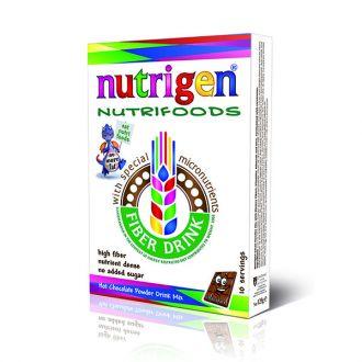 Nutrigen Nutrifoods Fiber Based Powder Drink Mix Chocolate 20 servings