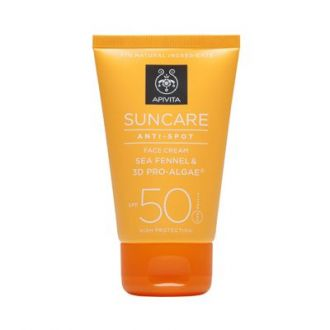 Apivita Suncare Anti Spot face cream Sea Fennel & 3D Pro-Algae SPF 50 50 ml