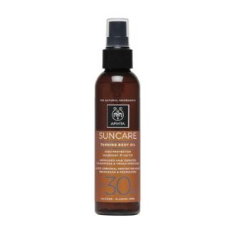 Apivita Suncare Tanning Body Oil with Sunflower & Carrot SPF30 150 ml