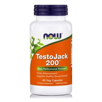 Now TestoJack 200 w/Tongkai Ali & Horny Goat Weed 60 tabs