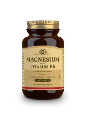 Solgar--Magnesium--with--vitamin--B6--100--tabs