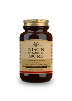 Solgar--Niacin--B3--500--mg--100--vegcaps