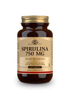 Solgar--Spirulina--750--mg--100--tabs