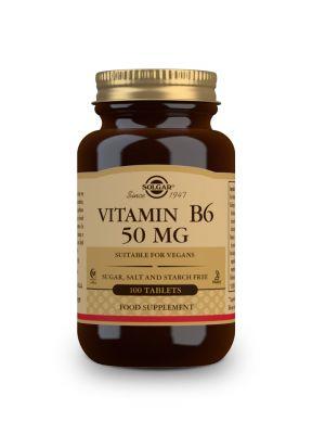 Solgar--Vitamin--B--6--50--mg--100--tabs