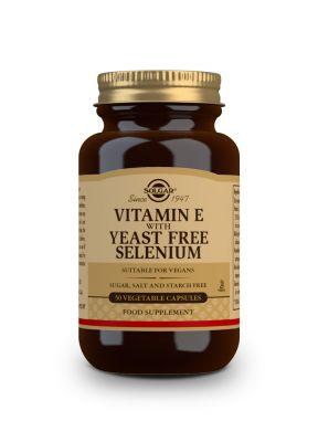 Solgar--Vitamin--E--with--yeast--free--Selenium--50--vegcaps
