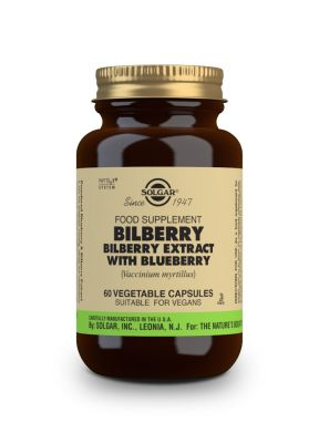 Solgar Bilberry Berry Extract with Blueberry 60 veg.caps