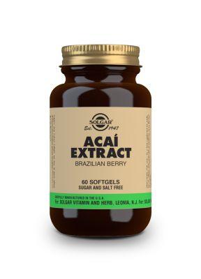 Solgar Acai extract Brazilian berry 60 softgels