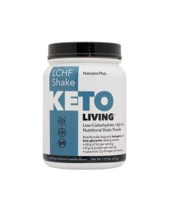 Nature's Plus KetoLiving LCHF Shake Natural Vanilla Flavour 578 gr